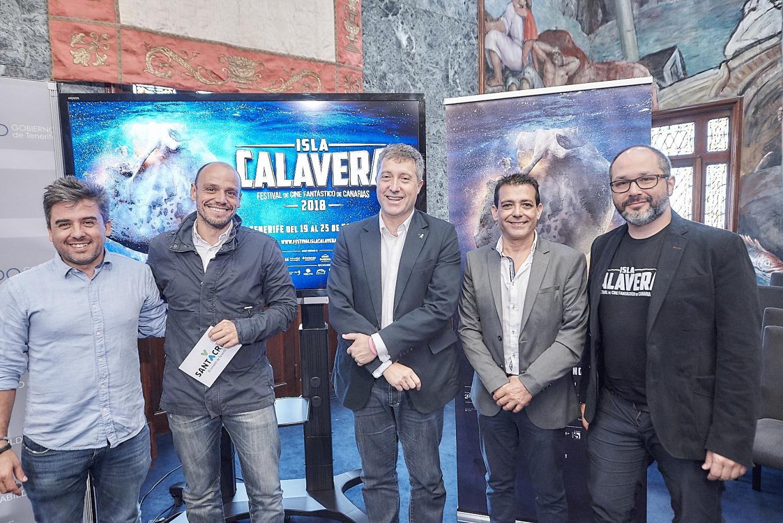 Presentación en el Cabildo de Tenerife de la 2ª edición del Festival de Cine Fantástico de Canarias - Isla Calavera.