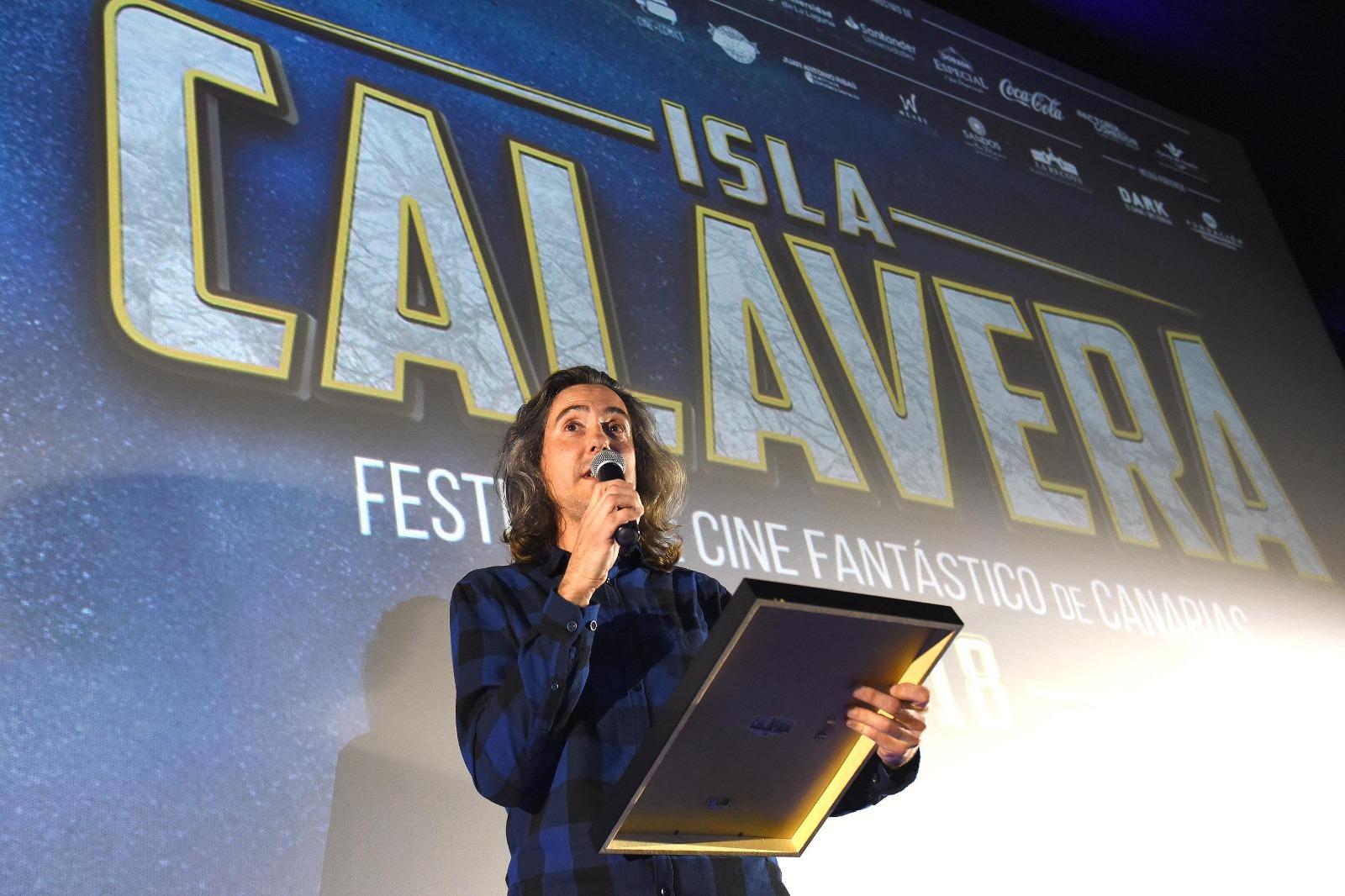 Diego López, Premio Isla Calavera a la Difusión del Fantástico. | Foto: Sergio Méndez