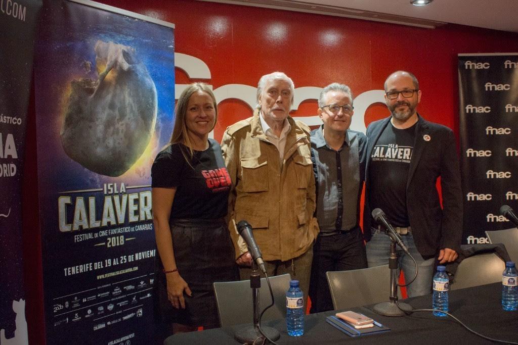 El actor Jack Taylor acompañó al Festival Isla Calavera en la presentación que tuvo lugar en el marco de Nocturna Madrid.