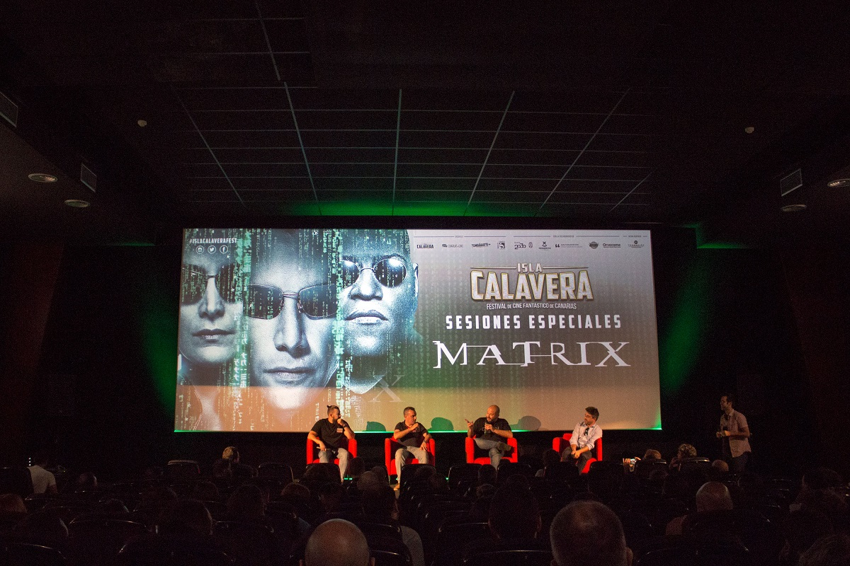 Charla post screening sobre 'Matrix'.