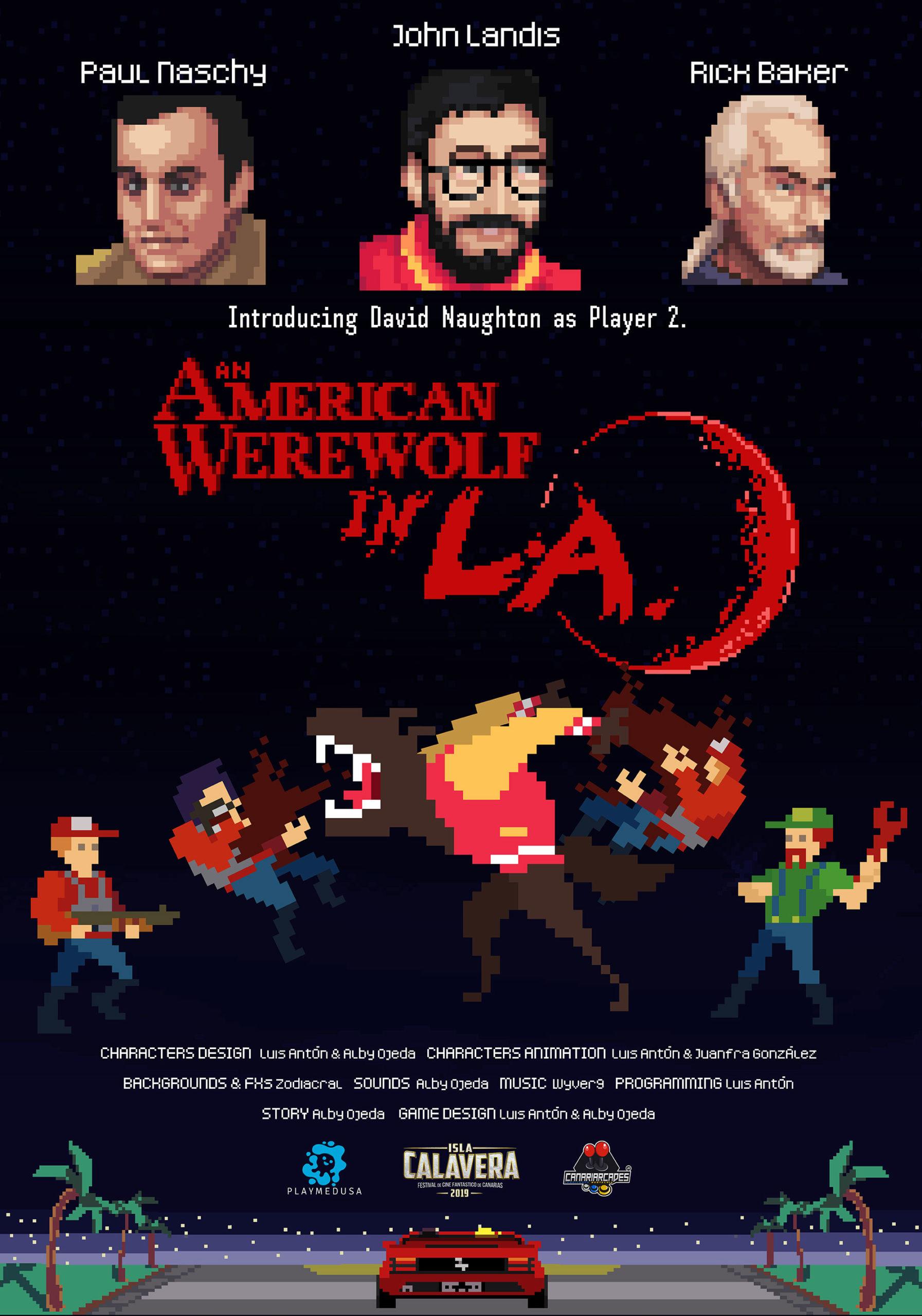 Cartel del videojuego 'An american werewolf in L.A.'