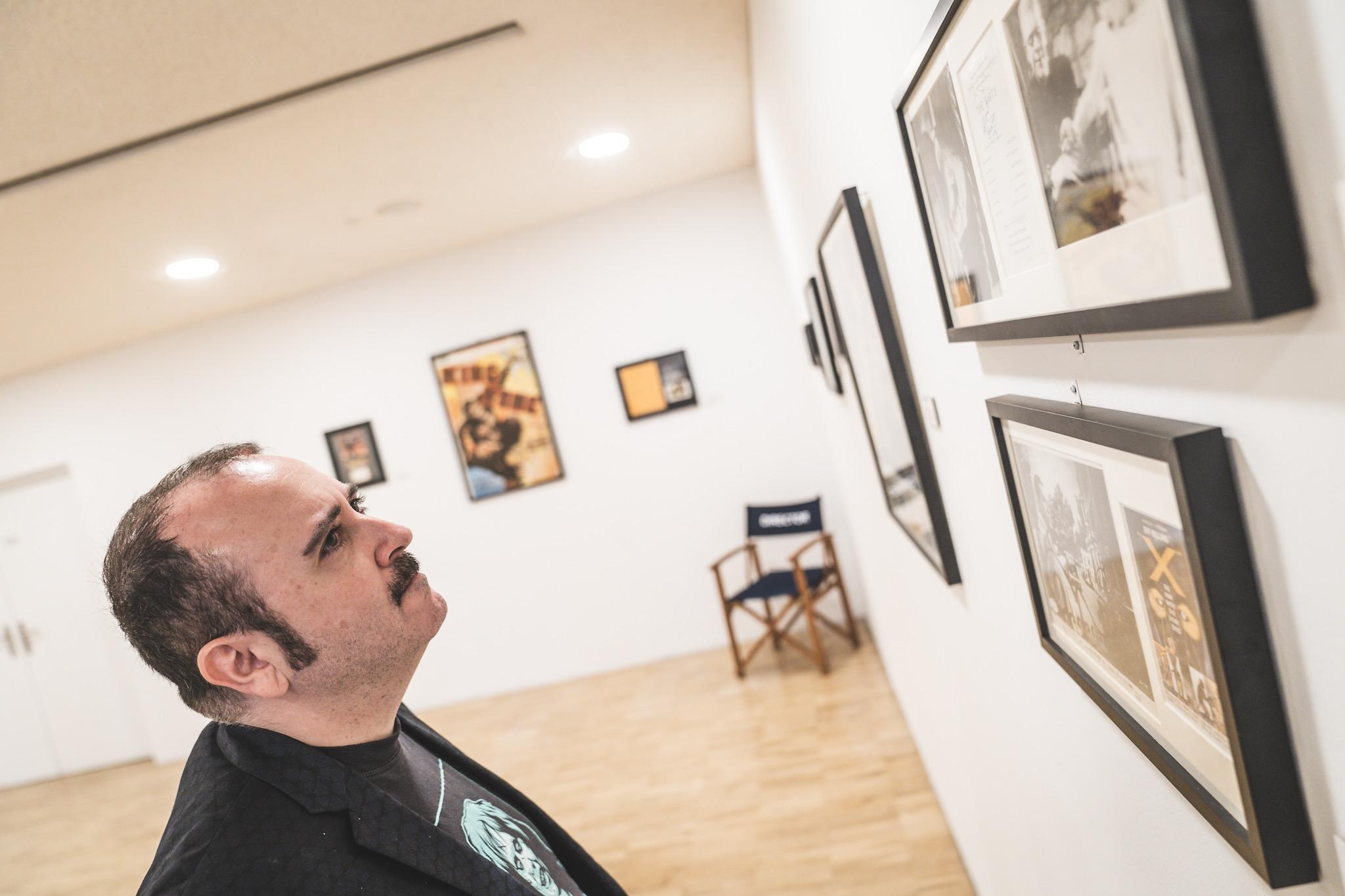 """Carlos Areces en la Exposción """"Firmas del Fantástico"""""""