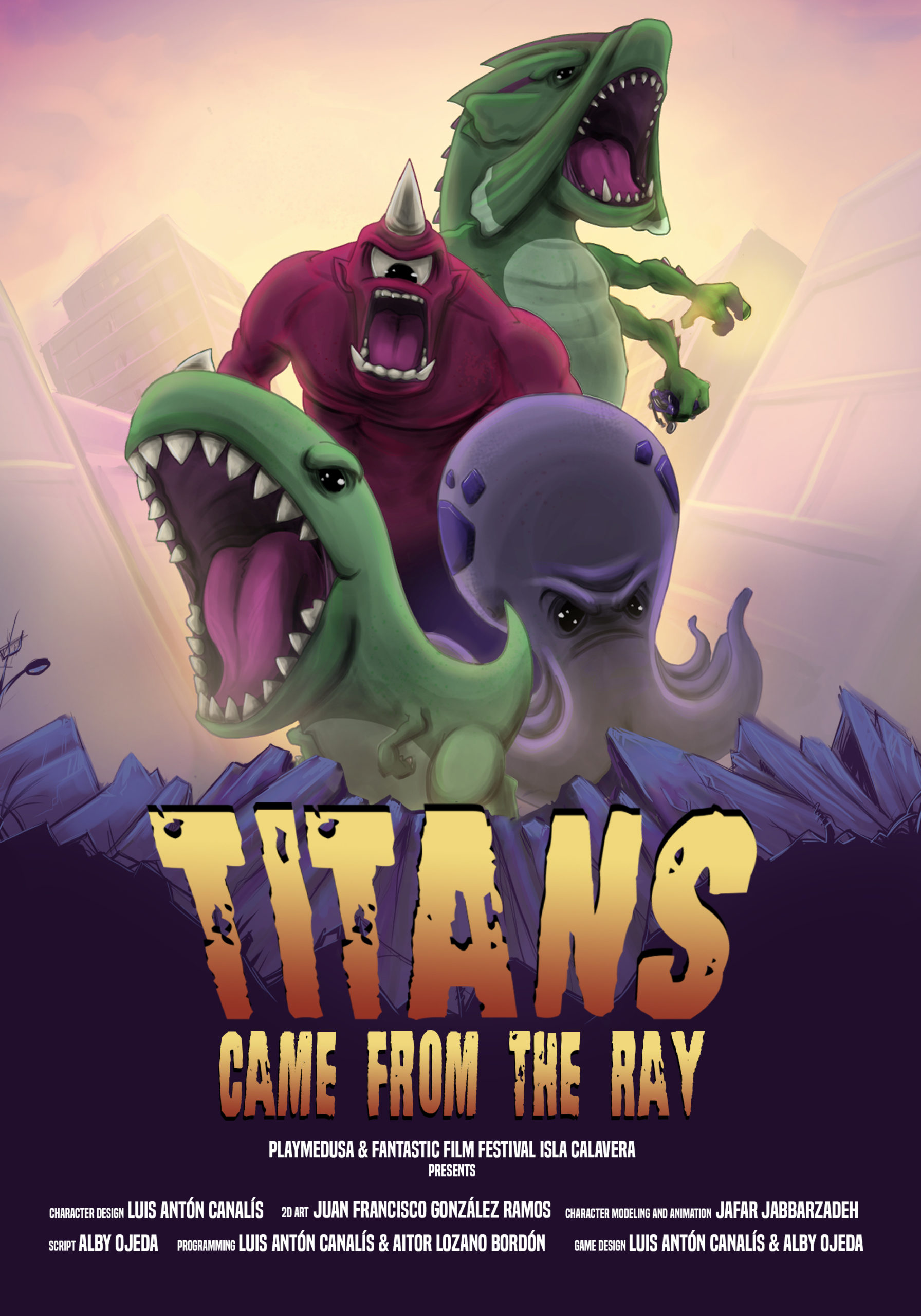 Póster 'Titans came from the Ray'